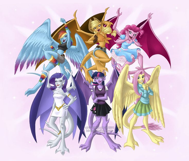 The new My Little Ponies as gargoyles!