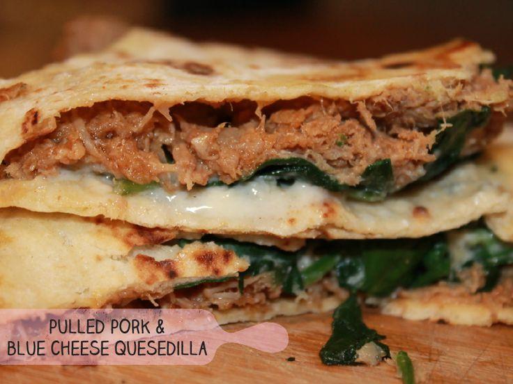 Pork & Blue Cheese Quesadilla