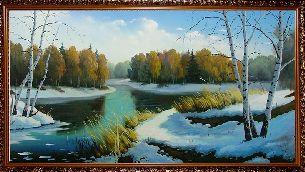 Оттепель - Зимний пейзаж <- Картины маслом <- Картины - Каталог   Универсальный интернет-магазин подарков и сувениров