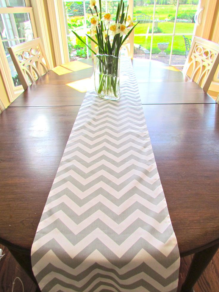 Grey Tablecloth Wedding | TABLE RUNNER 13 X 84 GRAY Chevron Table Runners  Wedding Shower .