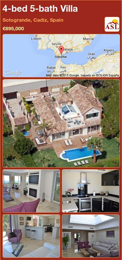 4-bed 5-bath Villa in Sotogrande, Cadiz, Spain ►€895,000 #PropertyForSaleInSpain