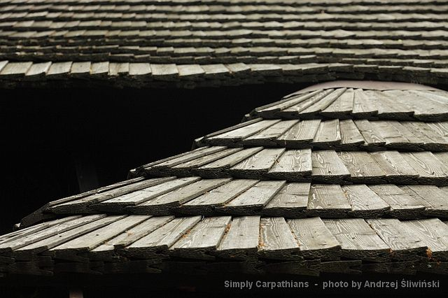 Wooden shingle.  www.simplycarpathians.com
