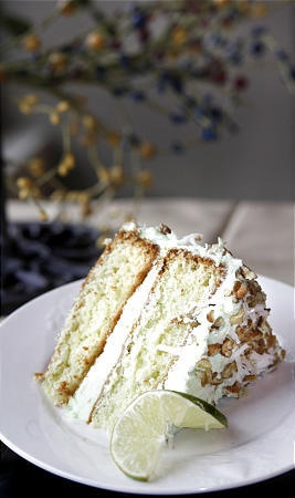 Watergate Cake Pistachio cake with pecans and coconut
