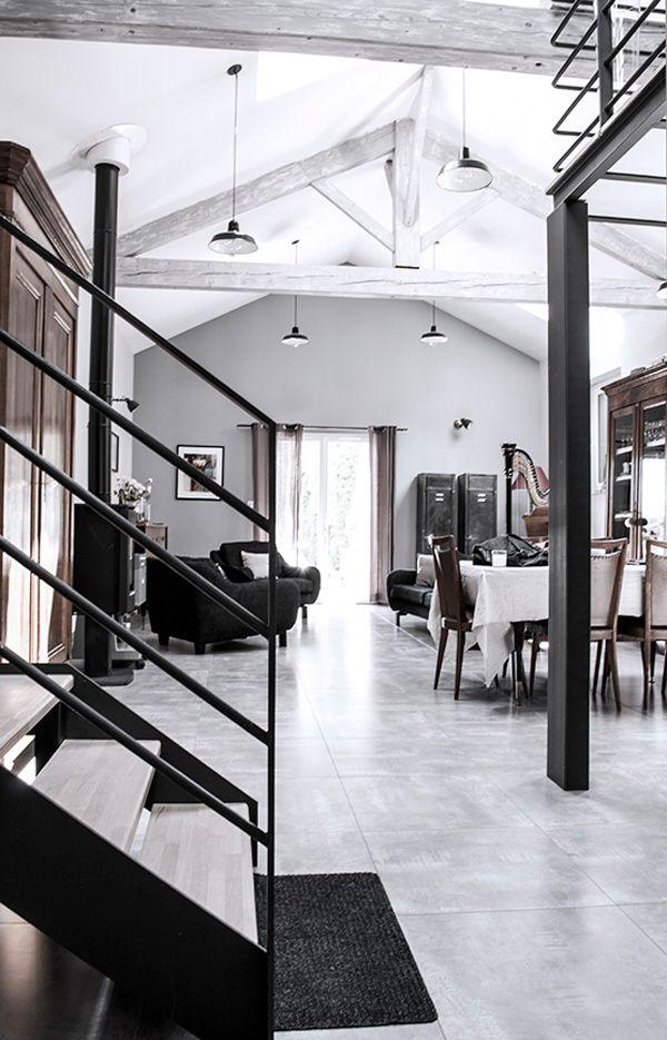 interiors crush, renovation, loft, anduze, france, planet studio, decor, materials, industrial, modern rustic, vintage furniture, style, trend, interior design, interiors, styling