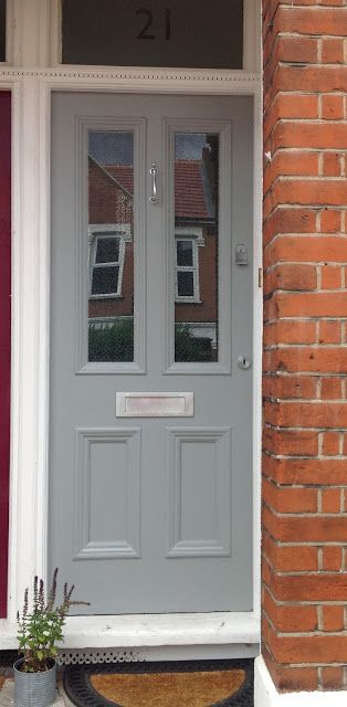 Front door, Farrow & Ball Manor House Grey                                                                                                                                                                                 More