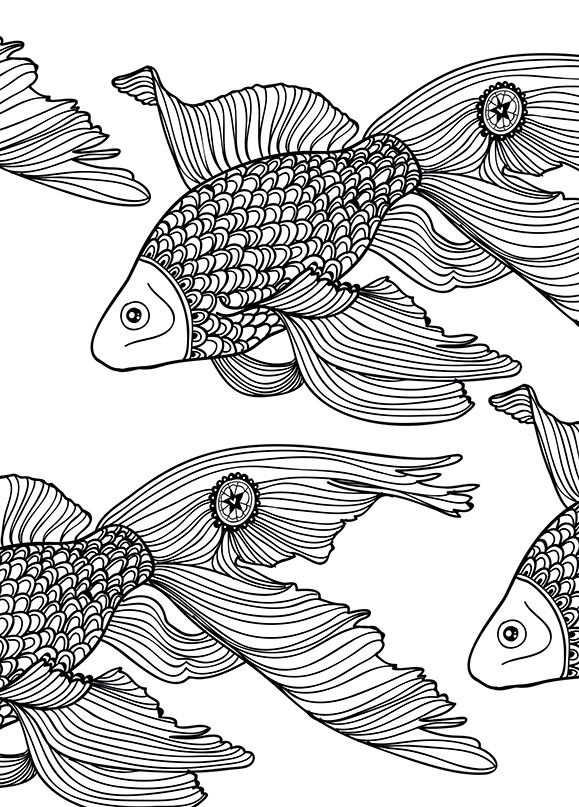 372 best coloring pages to print - underwater images on pinterest ... - Art Therapy Coloring Pages Animals