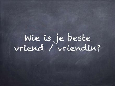 Filosoferen: filosofeerkaartje 'Wie is je beste vriend/vriendin?'