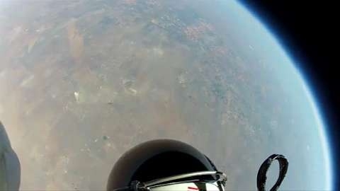 Felix Baumgartner reached an estimated speed of 1,342.8 km/h (Mach 1.24) jumping from the stratosphere, he is the first man to break the speed of sound in freefall and set several other records while delivering valuable data.
