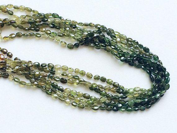 Green Tourmaline Beads Green Shaded Tourmaline by gemsforjewels