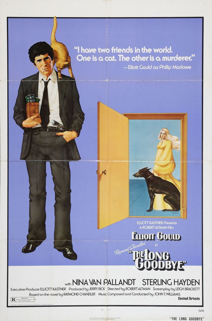 The Long Goodbye (I love how the cat on his shoulder is positioned as a noose!)