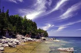 Georgian Bay, Ontario    you can drink the water its so cold and clean :) <3