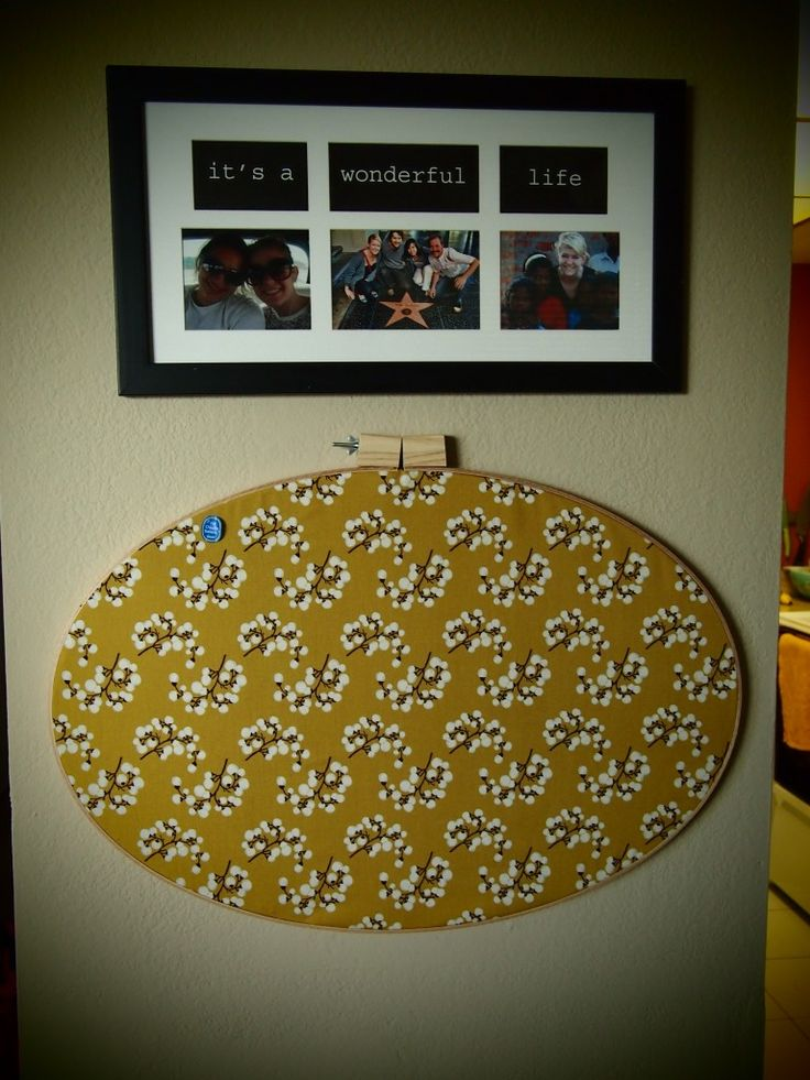 Embroidery Hoop Bulletin Board ~ Angela, you are so creative!