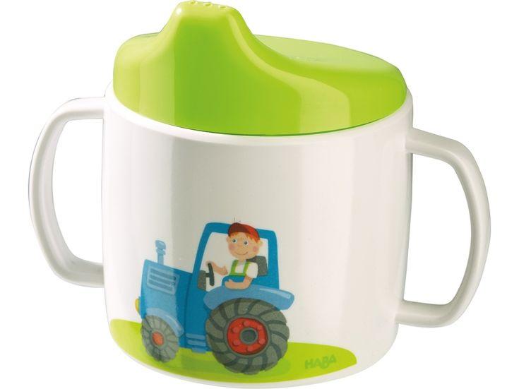 HABA Kindergeschirr Traktor Trinklerntasse - lohnende Bonuspunkte sammeln, auf Rechnung bestellen, DHL Blitzlieferung!