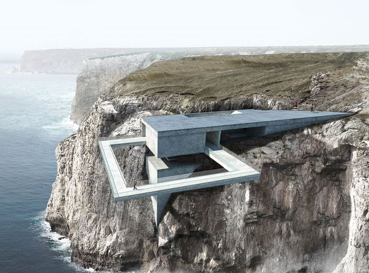 """(""""Beyond the Edge"""" is our proposal for an international architecture competition – a Site Landmark located in Sagres, Algarve, Portugal.) The site landmark is meant to mark the wilderness and the boundlessness of the..."""