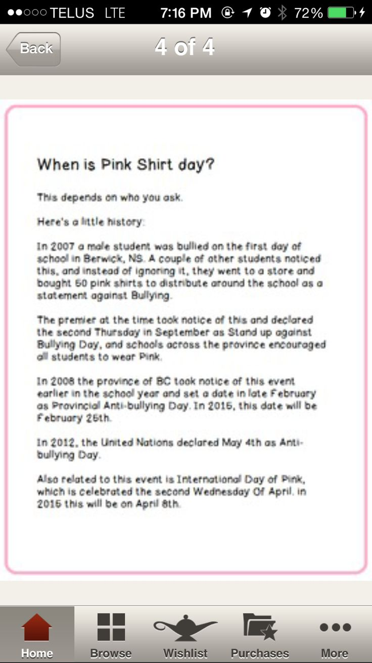 27 best Pink Shirt Day images on Pinterest | Pink shirts, Anti ...