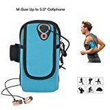 "Running Armband Phone Holder, ieGeek Sweat-Free Sports Armband Bag for iPhone 7/6/6s/5/SE/iPod, Samsung Galaxy S5/S4/S3, LG, HTC, Huawei Cellphone Up to 5.0"", MP3 MP4 Running Workout Cycling Hiking Jogging Multifunctional Pockets with Double Pockets & Free Keychain - M - https://www.trolleytrends.com/?p=759342"