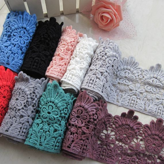 Wholesale 3yards/lot, Color Lace Sewing Supplies Cotton Embroidery Flowers  Lace Trim 4 inch width-in Lace from Home & Garden on Aliexpress.com | Alibaba Group