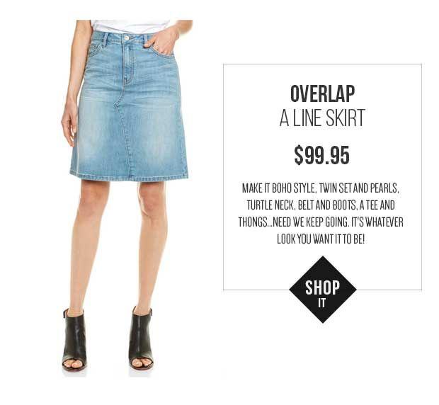JAG Overlap A Line Skirt
