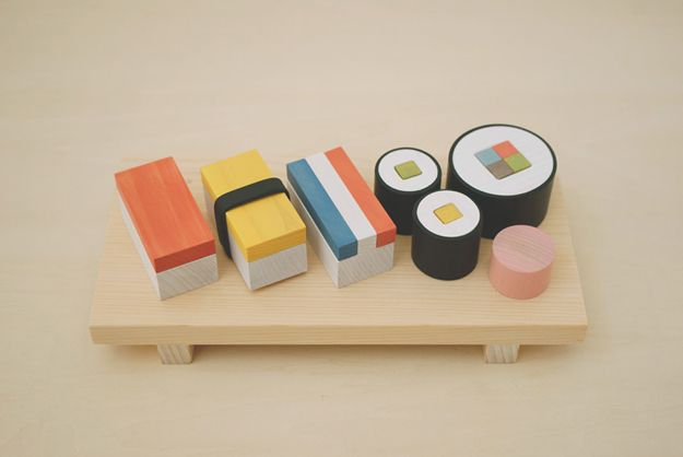 Wooden Blocks Teach Children The Art Of Sushi [Pics]