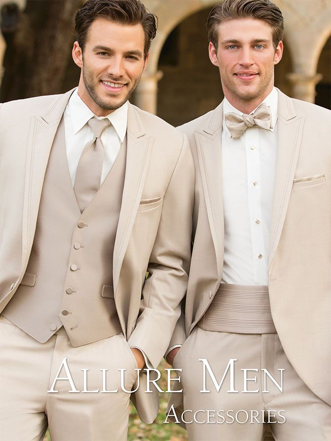 Ted Barry Tuxedos <<< Groom in straight tie and vest, men in suspenders and bow tie