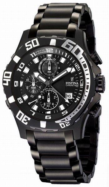 Festina F16288/4 Men's Watch Ghost Rider Alarm Chronograph Black Stainless Steel
