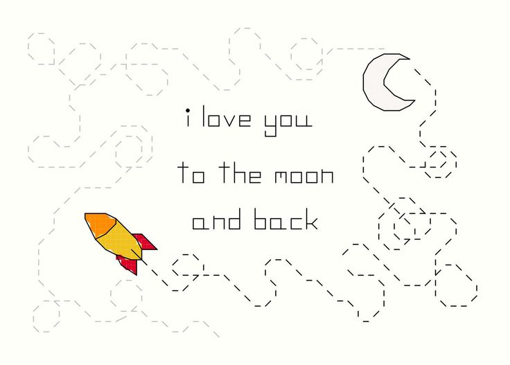 Cross Stitch Pattern -- Moon and Back, I love you to the moon and back cross stitch. $4.00, via Etsy.