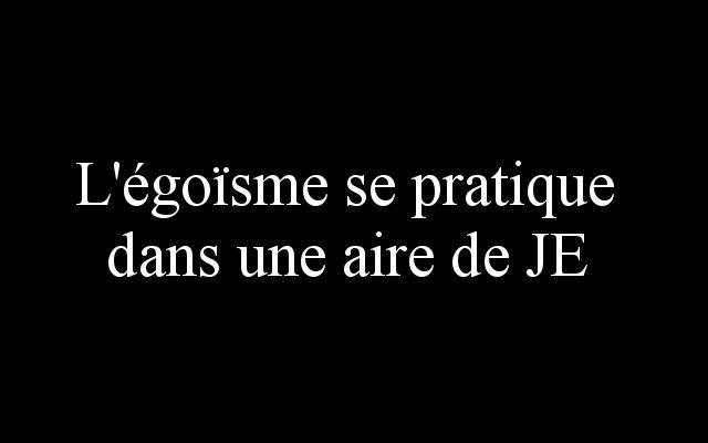 L'égoïsme se pratique dans une aire de JE (by ladamenrouge)...