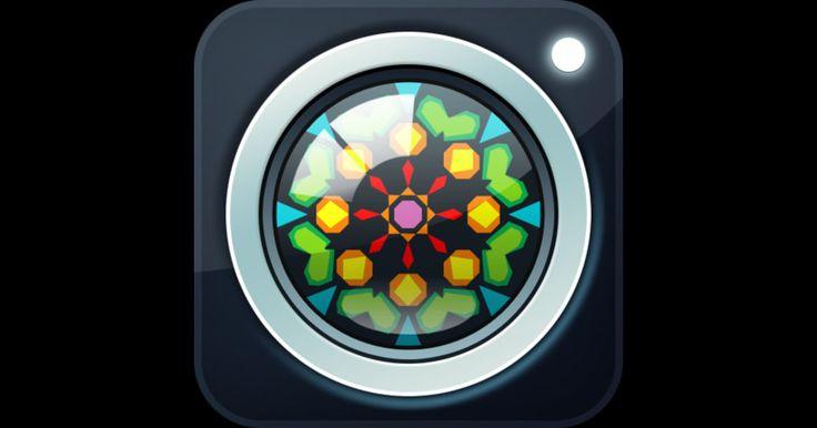 「KaleidaCam」 カメラに映っている映像が万華鏡のように様々なパターンで映る.指で画面を操作するとパターンの変化を楽しめる.