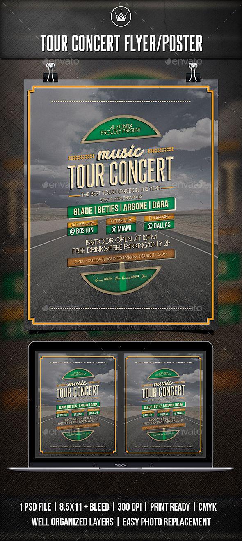 Tour Concert Flyer / Poster #concert #event  • Download here → https://graphicriver.net/item/tour-concert-flyer-poster/21298475?ref=pxcr