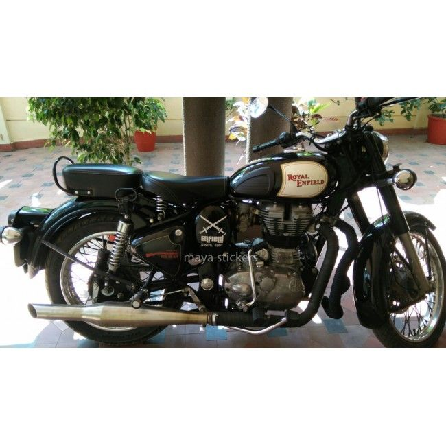 Custom Crossed Sword Sticker For Royal Enfield Bullet Available - Best custom vinyl decals for motorcycle seat