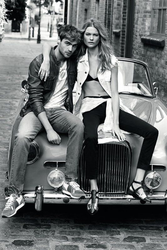 pepe jeans spring 2014 campaign1 Behati Prinsloo Stars in Pepe Jeans London Spring/Summer 2014 Campaign