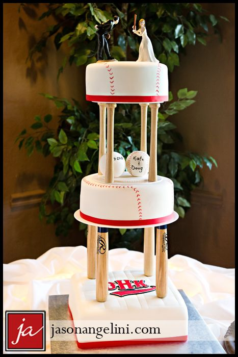 Baseball wedding cake - Jason Angelini Photography