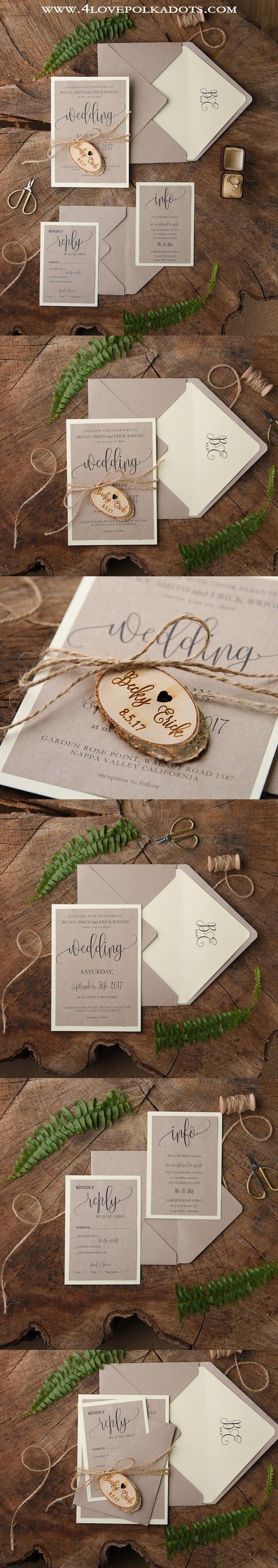WEDDING INVITATIONS wood 103 best Your Wedding