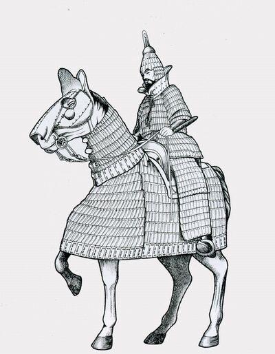 삼국시대 중장기병 추정 복원도 (출처: 한국 고대 전사와 무기)
