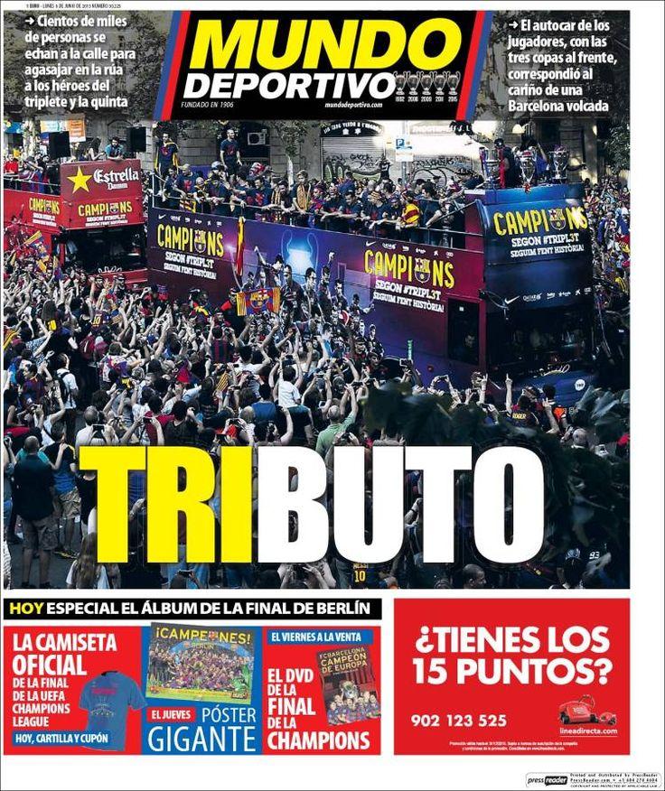 Portada Mundo Deportivo 8/6/2015