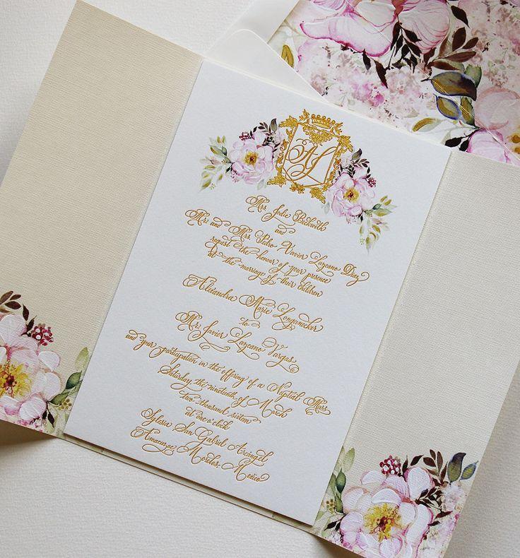 lotus flower wedding invitations%0A A Peek into the Studio  Watercolor and Letterpress Wedding Invites