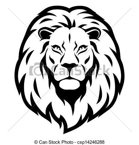 lion face line art clip art – clipart free download