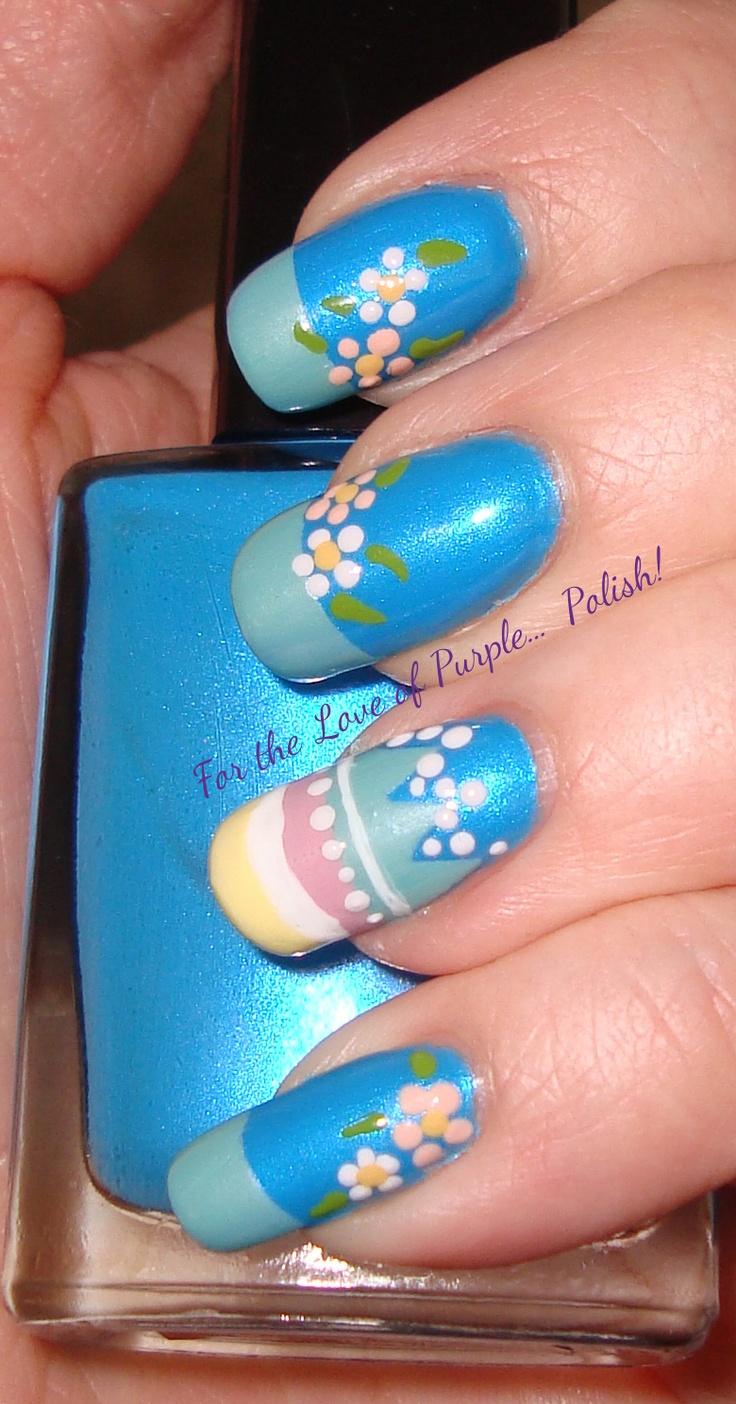 34 best easter spring nails images on pinterest easter nail art