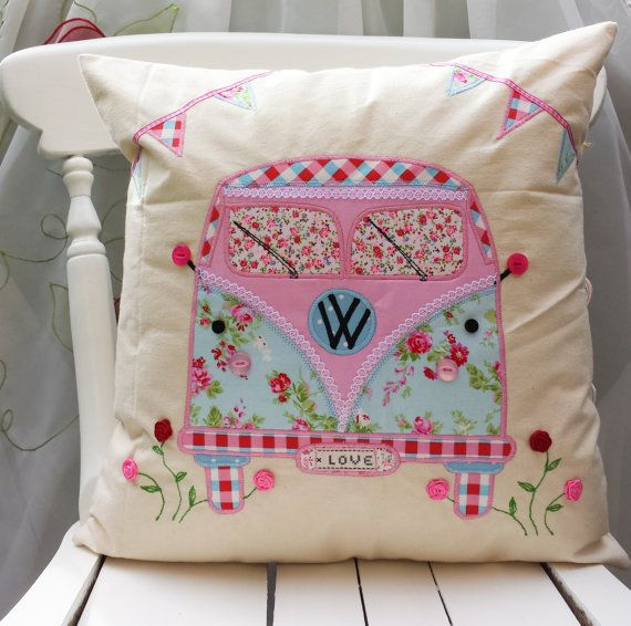 Camper Van Pillow Cushion cover Cath Kidston Other von FullColour