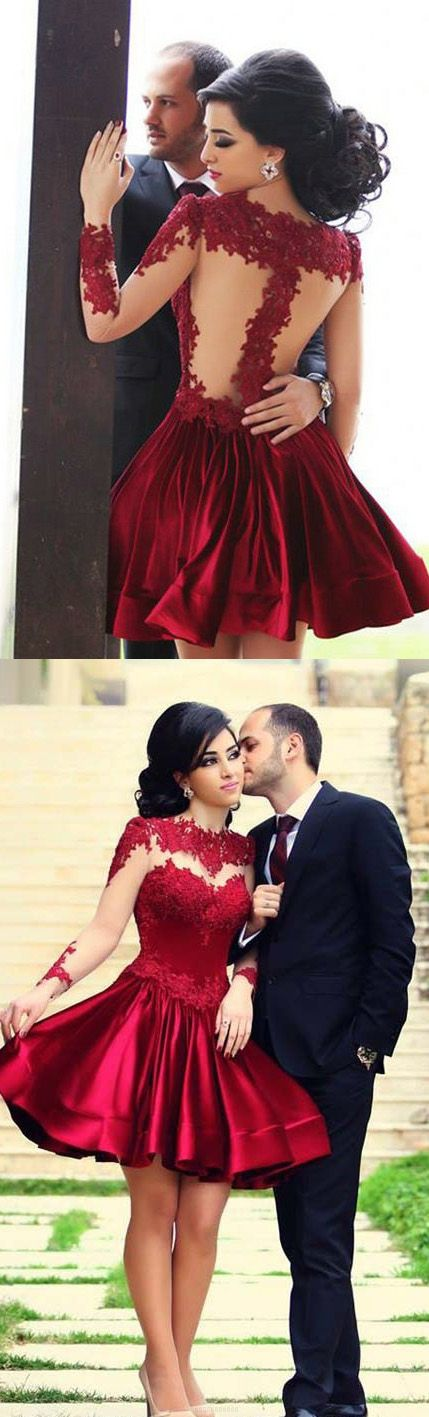 Red flirty dress