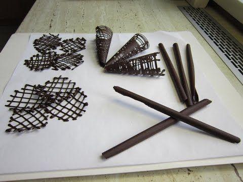 Ako pripraviť čokoládové ozdoby na tortu? Chocolate decoration. 3 časť - YouTube