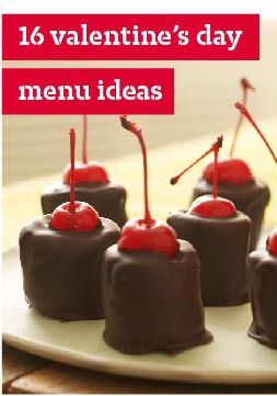 16 Valentine's Day Menu Ideas – We've got plenty of Valentine's Day recipes to last the whole holiday, whether you're waking up your sweetheart with breakfast in bed, cooking a romantic dinner or winding down with a dessert for two.