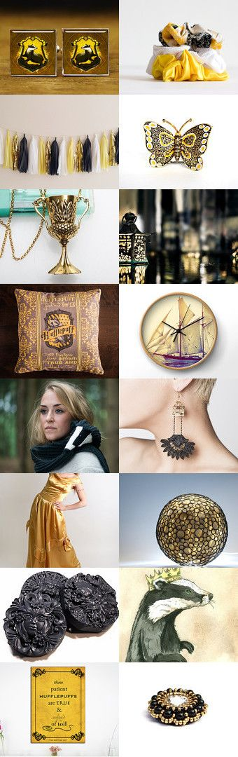 "Hufflepuff by Viktoria Schuster on Etsy--Pinned with TreasuryPin.com  ""You might belong in Hufflepuff, Where they are just and loyal, Those patient Hufflepuffs are true, And unafraid of toil"""
