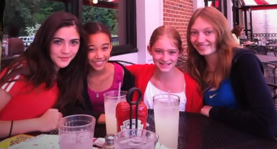 From left to right, Isabelle Fuhrman, Amandla Stenberg, Willow Shields, Jackie Emerson :3