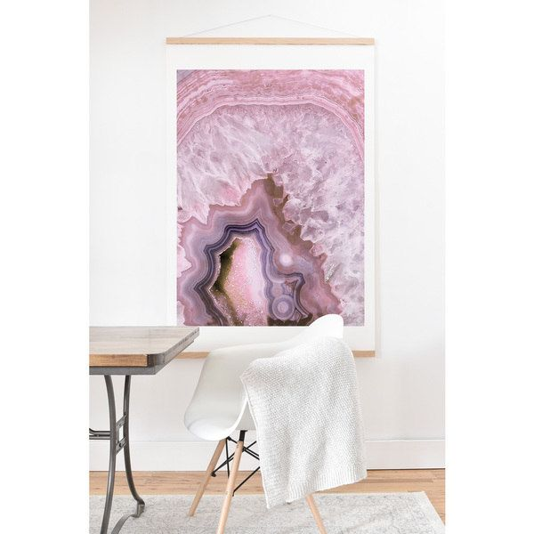 Emanuela Carratoni 'Pale Pink Agate' Wall Art with Hanger