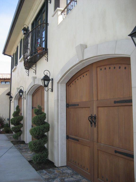 Mediterranean Garage With Babin Ironworks Custom Wrought