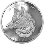 The Great Grey Wolf 2 oz Proof Silver Coin - Zentangle® Art Canada 2017