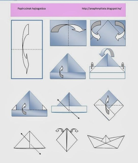 How to fold paper ship? instruction