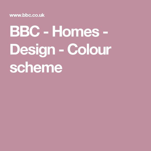 BBC -  Homes - Design - Colour scheme