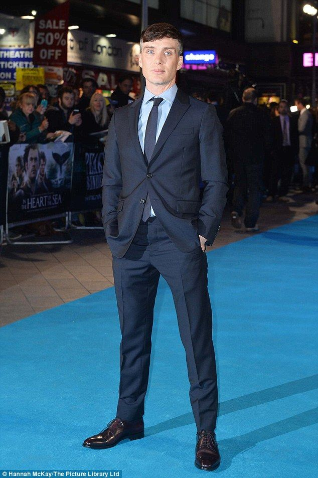Suited and booted: Cillian Murphy, who also stars in the film, scrubbed up well for the premiere